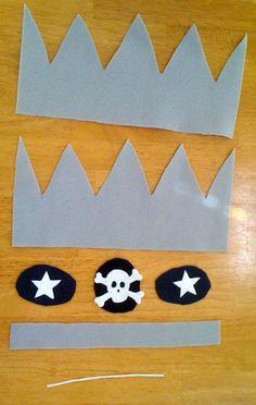 Mama's Felt Cafe: Yo-Ho, Yo-Ho--A Felt Pirate Crown Tutorial