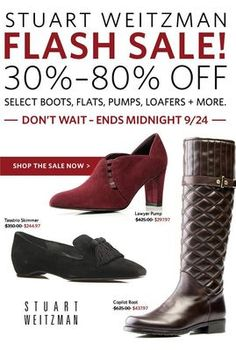 Gone in a flash! Up to 80% OFF Stuart Weitzman ends soon.