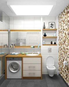 Badezimmer, Badezimmer Wäsche, Badezimmerideen, Badgestaltung, Waschräume,  Haus, Kleine Bäder, Duschen, Trautes Heim