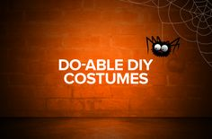 16 Last Minute DIY Costumes for Halloween - http://blog.f1rst.com/finds/do-able-diy-costumes/