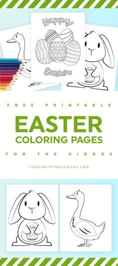 Easter coloring pages for kids | free printables | kids activities