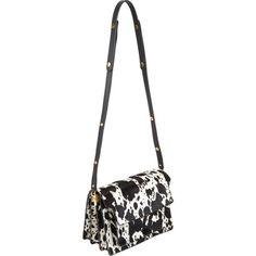 Marni Cow-Pattern Haircalf Medium Trunk Bag at Barneys.com NEED
