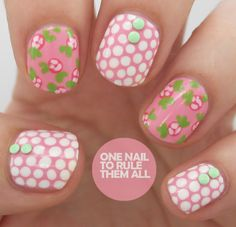 Tutorial Tuesday: Rose Polka Dots - One Nail To Rule Them All
