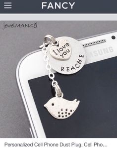 Personalized cell phone dust plug