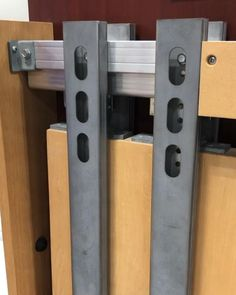 Solid steel uprights are on all our pocket door kits to prevent warping and bowing over time #pocketdoor