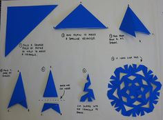 how to make snowflakes | How to make a paper snowflake | Flickr - Photo Sharing! (yes, I have been making them wrong for years)