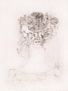 Hans Bellmer, 'Les Fleurs Du Mal', ca.1967. Illustration on japan. 22 x 15 in.