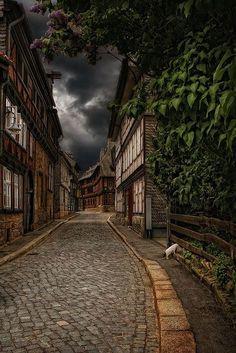 Cobblestone Street, Goslar, Germany