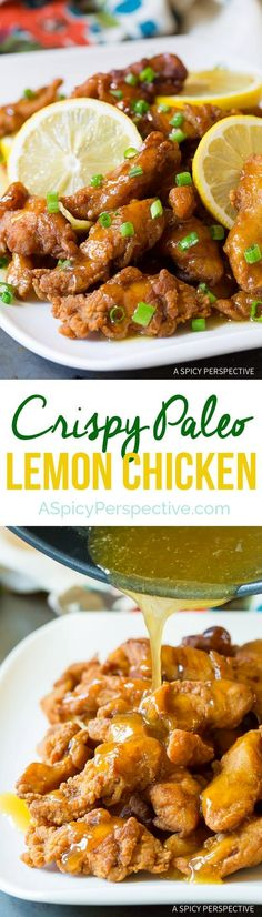 Paleo Chinese Lemon Chicken Recipe! So fresh and crispy, you won't even know it's healthy! This easy to make recipe is gluten free, dairy free, nut free  https://www.pinterest.com/pin/53691420541550201/