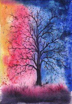 Ukraine-based artist Anna Armona creates colorful water paintings