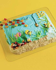 Under the Ocean Cake. This one is Isaac's favorite!                                                                                                                                                                                 More