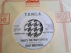 ISLEY BROTHERS - That s The Way Love Is  - TAMLA   Records  7   Northern Soul