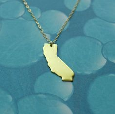 gold california love necklace by juliethefish