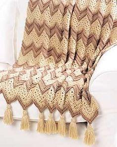 Ravelry: Ripple Beige Afghan pattern by Bernat Design Studio