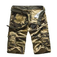 2018 New Camouflage Camo Cargo Shorts Mens Casual Shorts Male Loose Work Shorts Man Military Short