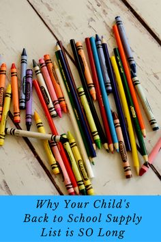 Housewife Eclectic: Why Your Child's Back to School Supply List Is So Long