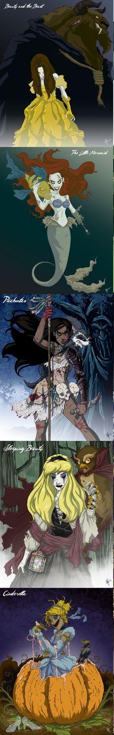 Jeffrey Thomas : Belle, Ariel, Pocahontas, Aurore, Cendrillon, intense disney...