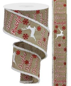 """5 Yards Christmas Red Gold Silver Bauble Ornaments Acetate Ribbon 1 3//8/""""W"""