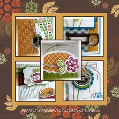 I got this tutorial and I LOVE the cards and little mason jar treat box.  It is adorable.