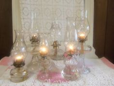 Oil Lamps Wedding Table setting