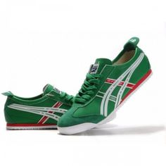 2012 Asics Onitsuka Tiger Mexico 66 Mens Shoes Green White Red