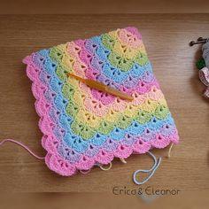 EricaandEleanor's Beautiful Shells Blanket Baby Afghan Crochet Patterns, Crochet For Beginners Blanket, Crochet Quilt, Crochet Flower Patterns, Crochet Baby, Crochet Afghans, Crochet Ideas, Crochet Shell Blanket, Granny Square Pattern Free