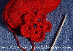 mi rincón de mariposas: Flor de crochet (esquema)