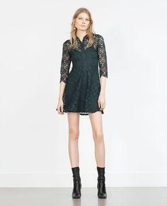 ZARA - DAME - SKJORTEKJOLE Look 2015, Zara New, Dress Shirts For Women, Winter Looks, Zara Women, Dress Outfits, Dresses, What To Wear, Cold Shoulder Dress