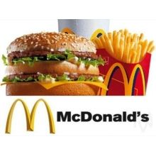 McDonalds Gift certificate PHP500 and 1000  USD18.00 and 33.00