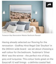Wall Colors, House Colors, Colours, Godfrey Hirst, Beach Shack, Mink, Master Bedroom, Flooring, Grey