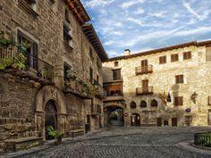 Plaza de Cretas en la comarca del #Matarraña #Teruel #Aragón
