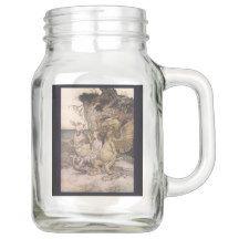 Red and Gold Damask Gypsy Collection Mason Jar Mason Jar Glasses, Mason Jar Gifts, Vintage Gypsy, Vintage Love, Alice In Wonderland Mug, Hippie Juice, Mason Jars With Handles, Diy Stuffed Animals, Pet Gifts