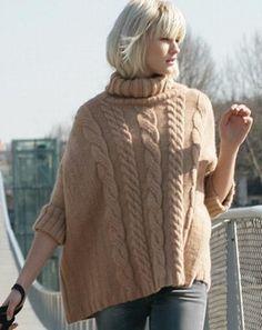 poncho sweter