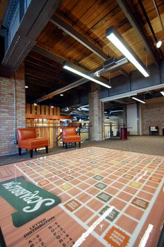 I want a scrabble board for a lobby floor. #design #office #work