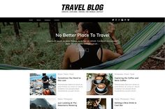 Travel Blog WordPress Theme by Dessign Themes on @creativemarket Responsive Slider, Responsive Layout, Business Brochure, Business Card Logo, Site Website, Web Themes, Event Flyer Templates, Flyer Layout, Wordpress Theme Design