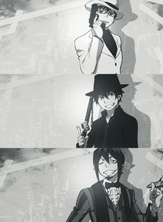Yukio, Rin, Mephisto