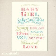 Fanciful Girls Nursery Wall Art Print Birth by casalastudio, $15.00