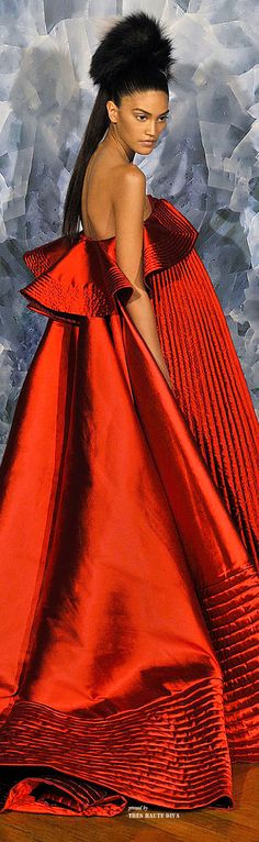 Miss Millionairess / Valentine's Day Red / karen cox. Alexis Mabile Haute Couture F/W 2014-15