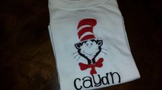 Cat in the Hat Shirt FREE SHIPPING by SouthernBlingBowtiqu on Etsy, $23.00