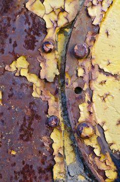 Rust, peeling paint