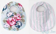 (9) Name: 'Sewing : Baby Bib - Drool Bib (One Size)