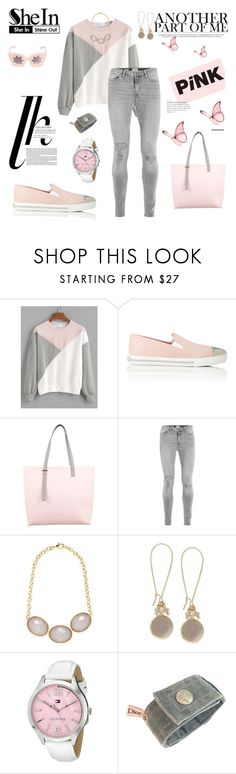 """Pink, another part of me"" by agnesmakoni ❤ liked on Polyvore featuring Miu Miu, PB 0110, Rivka Friedman, INC International Concepts, Tommy Hilfiger, Christian Dior and Linda Farrow"