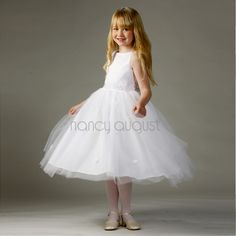 Princess Sparkle Flower Girl Dress: Looking for a new dress to let your princess shine? Well look no further! This princess flower girl dress features a wide boat neck satin bodice decorated with sprinkles of the most beautiful sparkling accents that will help all your little flower girl's fairytale dreams comes true! The ballerina inspired multi-layered tulle skirt has cute dainty flowers throughout for a added feminine touch.