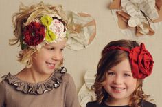 diy tutorial. how to make these gorgeous fabric flower headbands!!! so fun!