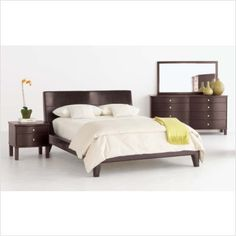 Sitcom Furniture Cosmo 4 Piece Leather Bedroom Set