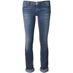 Goldsign 'Misfit' slim jeans (7,985 HNL) found on Polyvore featuring women's fashion, jeans, rolled-up jeans, slim fit jeans, destroyed jeans, 5 pocket jeans, slim cut jeans and rolled up jeans
