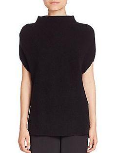 Vince Wool & Cashmere Mockneck Sweater - Black