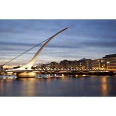 Samuel Beckett Bridge at dusk Liffey River Dublin Leinster Province Republic of Ireland Canvas Art - Panoramic Images (27 x 9)