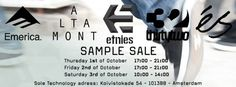 Sole Technology Sample Sale (Etnies, ...) -- Amsterdam -- 01/10-03/10