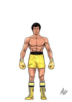 Page Rocky Series Characters illustrated by MGO Rocky Balboa 1, Rocky Balboa Poster, Rocky Series, Rocky Film, Tv Series, Character Drawing, Character Illustration, Americana Tattoo, Apollo Creed